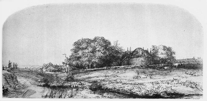rembrandt etchings landscape
