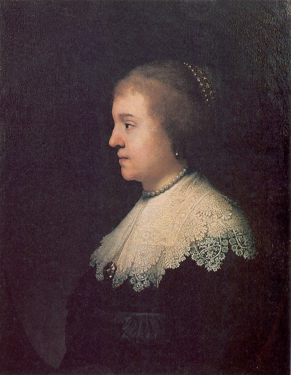 Rembrandt, portrait of Princess Amalia von Solms